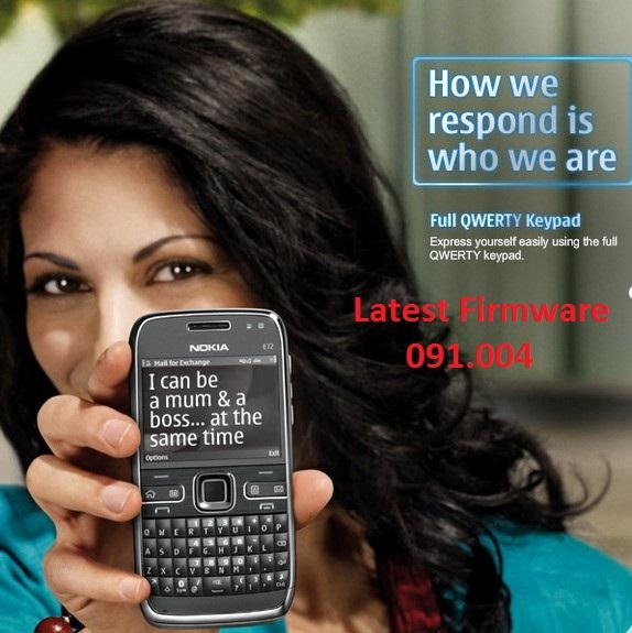 How to Install Latest Firmware/Software 091 004 Nokia E72