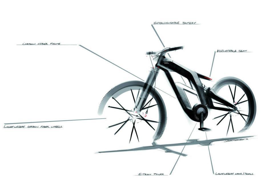 new E-Tron Spider Bike from Audi