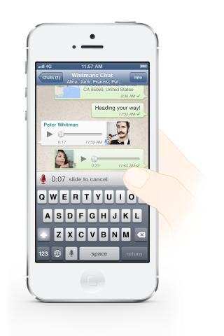 Whatsapp voice message iPhone